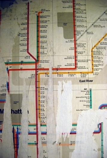 Vignelli exposed | Soulellis #vignelli #map #subway #vintage #nyc