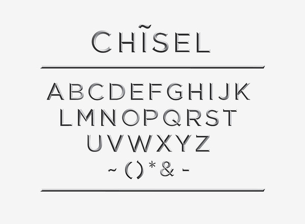 CHISEL Typeface #typography