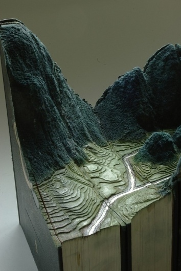 Carved Book Landscapes by Guy Laramee | Colossal #sculpture