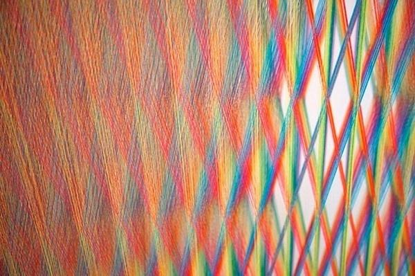 Textile art of artist Gabriel close look #exhibition #textile #art #installation