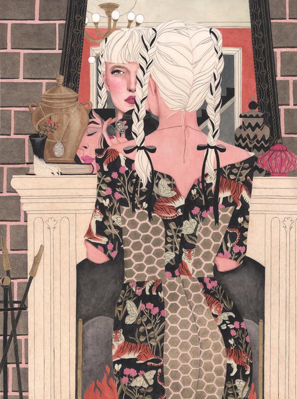 Riikka Sormunen #girl #illustration