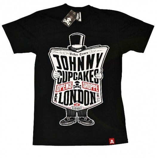 Johnny Cupcakes London Exclusive T-shirt | The Daily Street #typography #print #tee #illustration