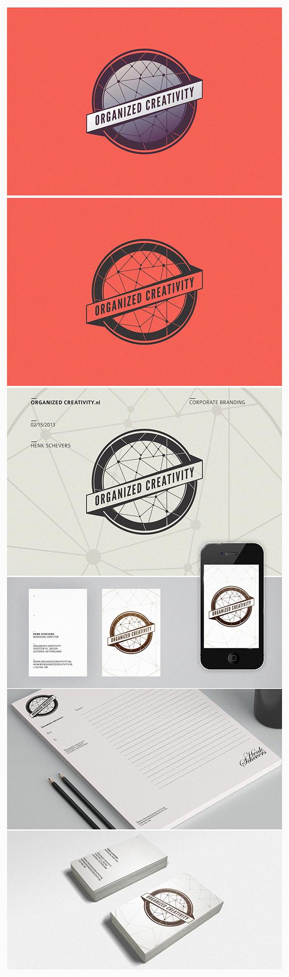 Organized Creativity Corporate Branding - Netherland #business #branding #minimalize #card #design #simple #logo #trend