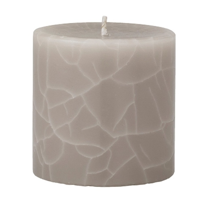 crackle pillar creamy vanilla coconut scented candle 7 x 7 cm