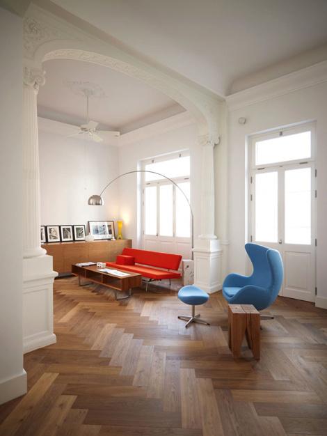 Greek Residence #interior #in #of #design #living #home #the #street #middle #room