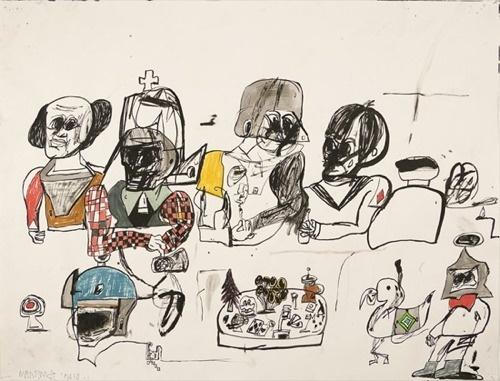Eddie Martinez « PICDIT #mixed #media #drawing #art