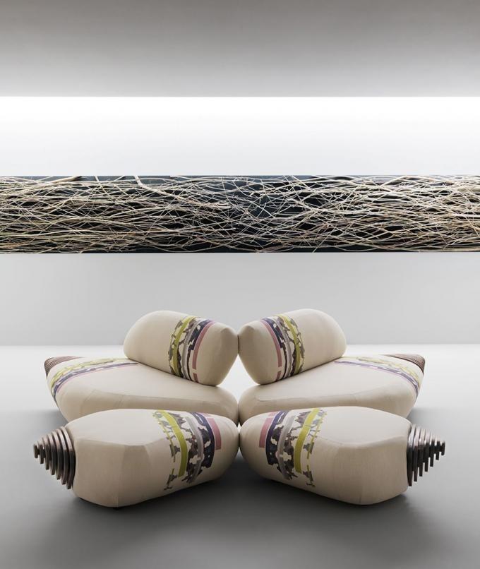 Botan Sofa by EMBT Inspired by the peony flower - www.homeworlddesign. com (7) #sofa #design #home #furniture