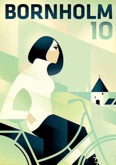 Beautiful illustrated posters by Mads Berg — Lost... - Bisign #bicycle #berg #mads #illustration #poster