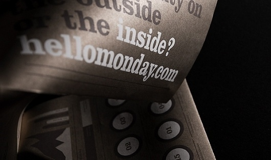 Hello Monday - Direct mail poster (new website) on the Behance Network #denmark #monday #gold #hello #poster #typography