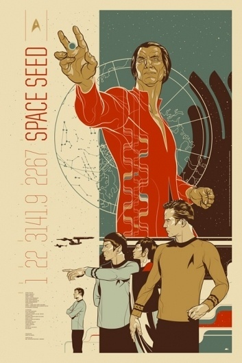 Star Trek: Space Seed : Martin Ansin, Illustrator | Illustration Portfolio #drafthouse #alamo #the #trek #illustration #star #poster