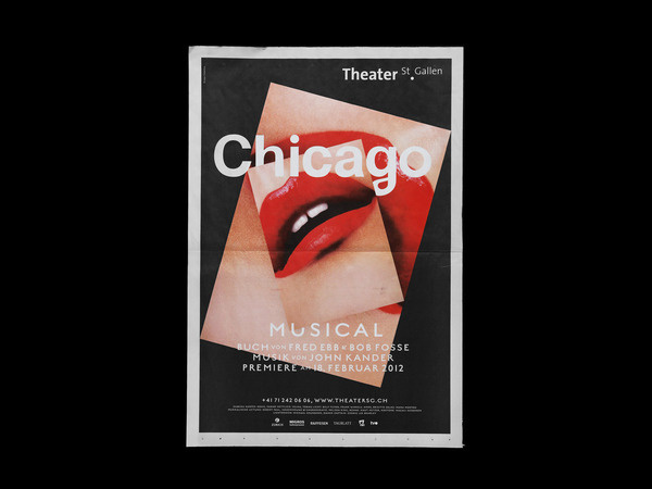 Bureau Collective – Chicago Musical #design #graphic #poster #typography