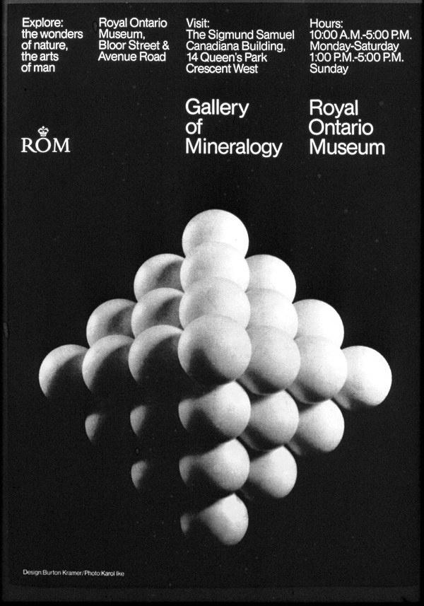 Burton Kramer — ROM Gallery of Mineralogy (1968) #white #modern #black #grid #poster #and