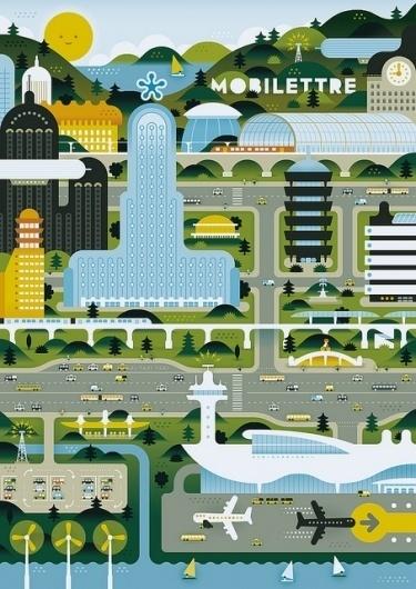 Green City | Flickr - Photo Sharing! #illustration