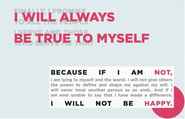 True to Myself #truth #design #wilken #ethics #layout #kristi