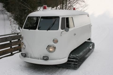 van1 Snow tracks from VW van photo #tracks #van #vw #snow