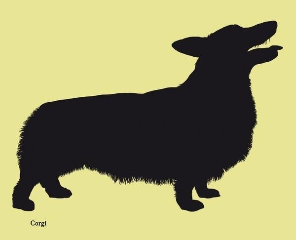 Dog silhouettes (set 4) #fellerer #together #illustration #forever #marge #friends