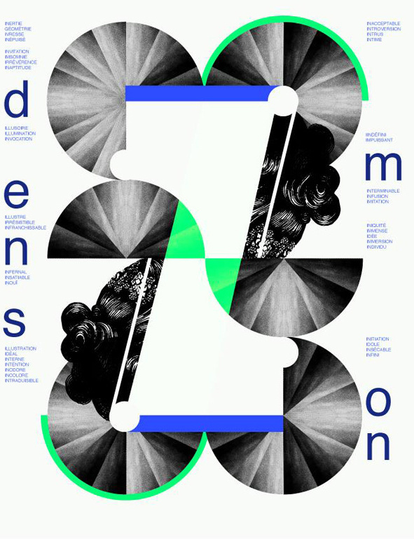 DIMENSION. I : Le sablier on Behance #print #design #graphic #poster #typography