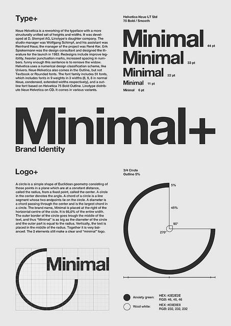 """Minimal"" Poster by Julian Kleyn #poster #typography"