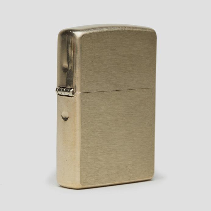 Zippo Lighter - Brushed Brass #brass #zippo
