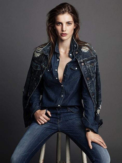 Astrid Baarsma by Jimmy Backius for Elle Sweden #girl #fashion #photography #fashion photography #model #jeans