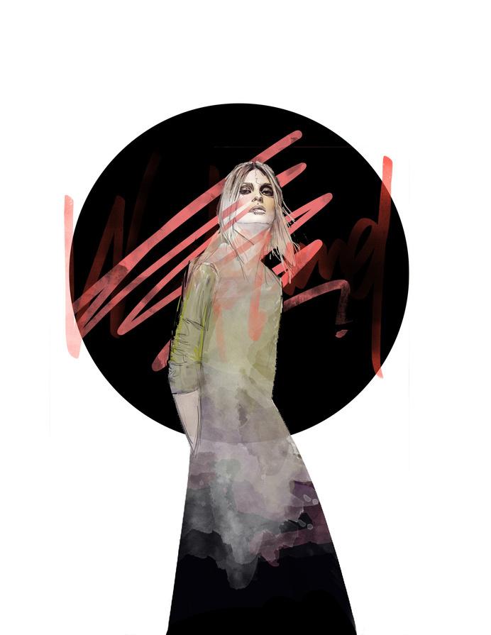 WASTELAND - Rosco Flevo #flevo #rosco #designer #artscumantics #music #illustration #wasteland #postartfuckery #art #fashion #female