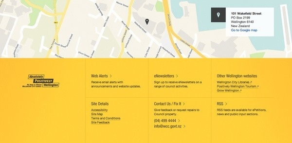 Footer from Wellington City Council › PatternTap