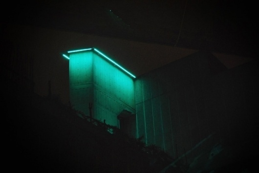 Arch MCX #concrete #terquoise #hayward #light #neon