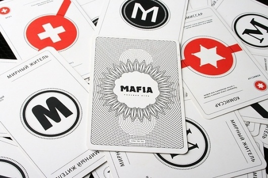 Mafia playing cards on the Behance Network