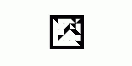 ArtSoft Consult Logo on the Behance Network #dynamic #white #animated #black #shape #square #triangle #logo