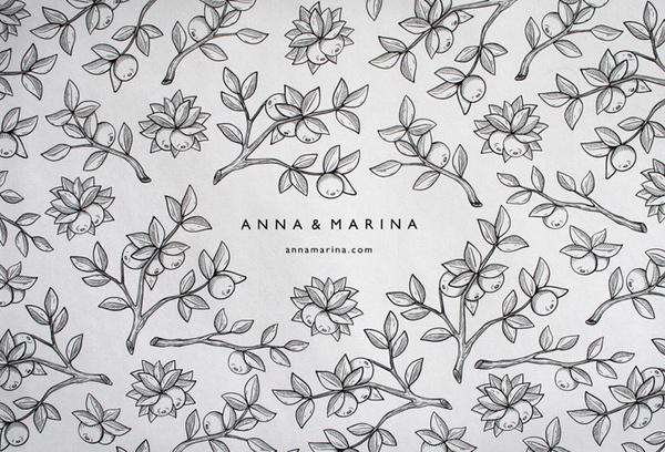 Anna #logo #illustration #pattern #branches