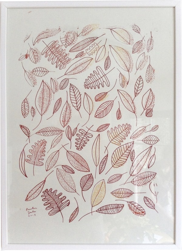 autumn #screenprint #outlines #autumn #art #leaves