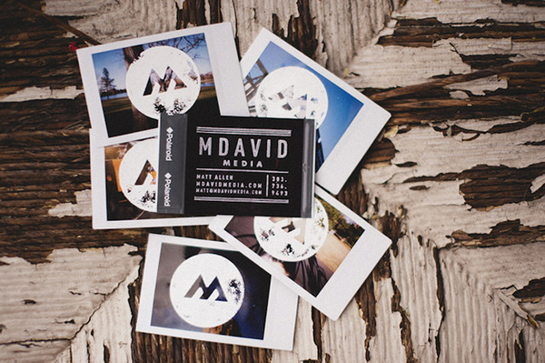 M David Media Business Card #emboss