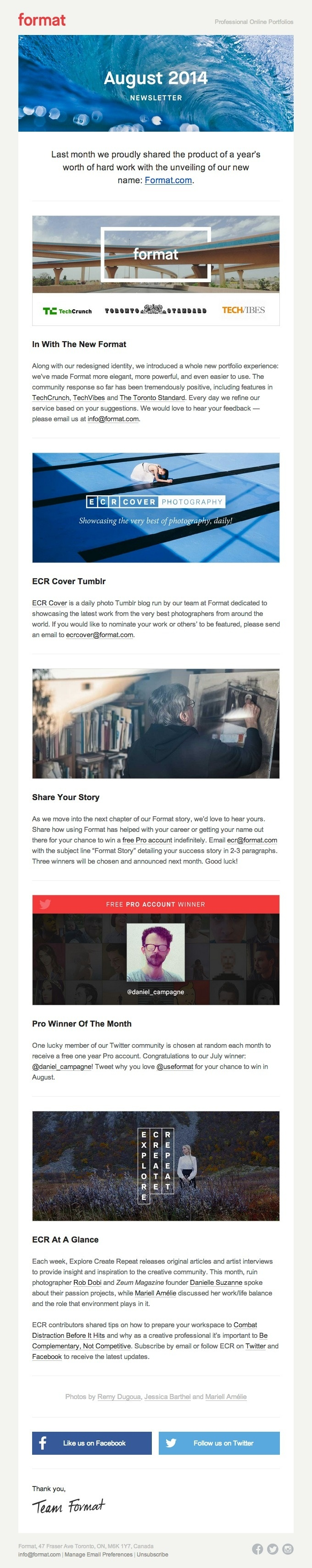 Product-Update-Email-Design-from-Format #email #mailing