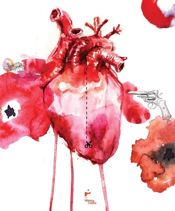 Heart #heart #valentines #red #gun #pantings #poppy