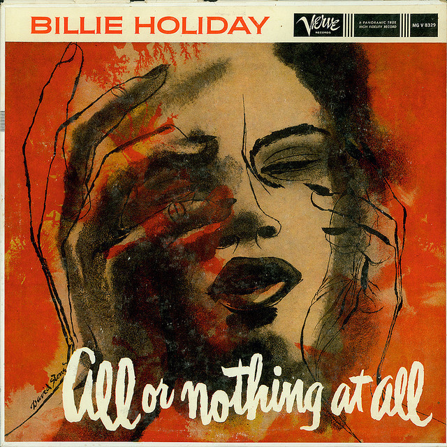 Pics For > Billie Holiday Album #album #script #cover #holiday #brush #billie