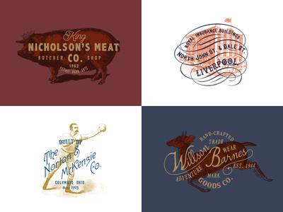 Vintage Logo Templates #graphicdesign, #vintage, #retro, #hipster, #old, #badge, #identity, #logos, #bundle, #stamps, #template, #logo