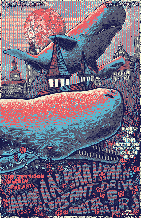 music event poster on Behance #whale #illustration #typography