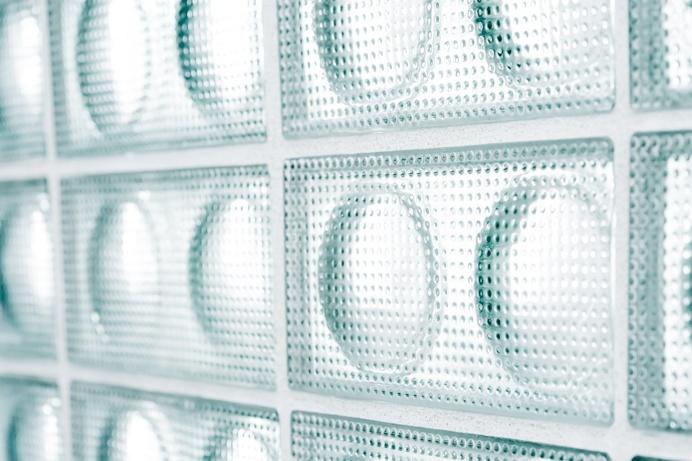 Glass bricks. House from the 20's by Jacek Kolasiński. Photo by Karolina Bąk. #jacekkolasinski #interiordesign #glassbrick