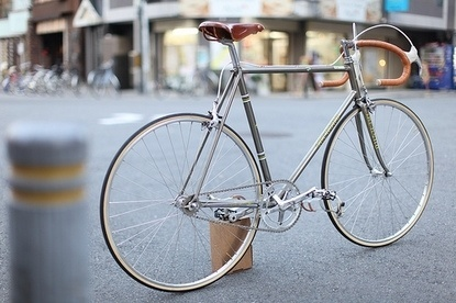 Baubauhaus. #silver #clean #brown #leather #bike