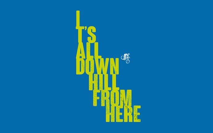 Ridden all downhill poster design type
