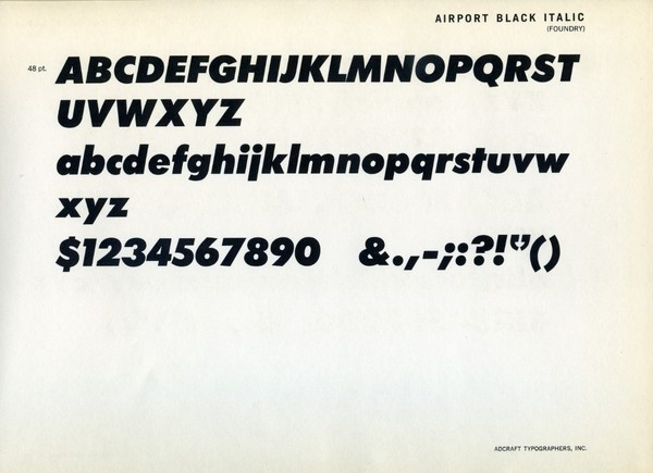 Specimen of the Airport Black Italic font #type #specimen #typography