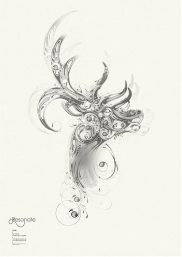 Silent Records on the Behance Network #flourish #resonate #si #freehand #illustration #scott #animal