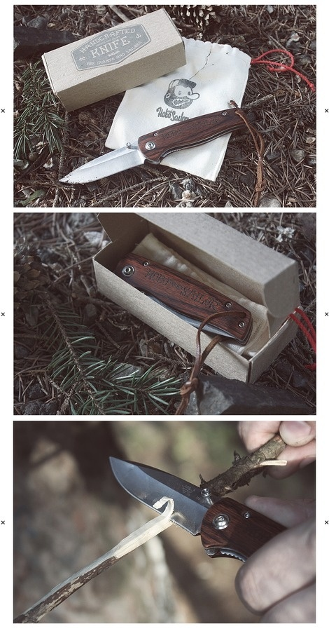 Hobo and Sailor | Knife for Tramps and Sailors #packaging #design #knife #branding
