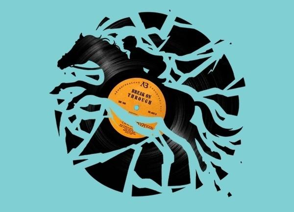 """Disc Jockey"" Threadless.com Best t shirts in the world #illustration"