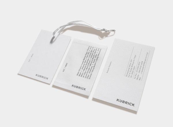 KUBRICK #letters #design #label #grid #typography