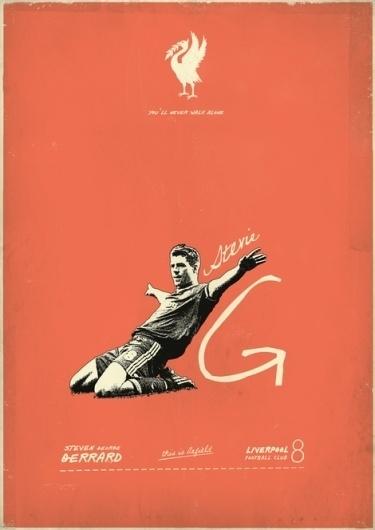 Sucker for Soccer on the Behance Network #design #vintage #liverpool #gerrard