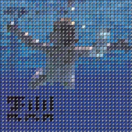 Pantone & Covers Album ! » Design You Trust – Design and Beyond! #album #pixelart #nirvana #cover #pantone