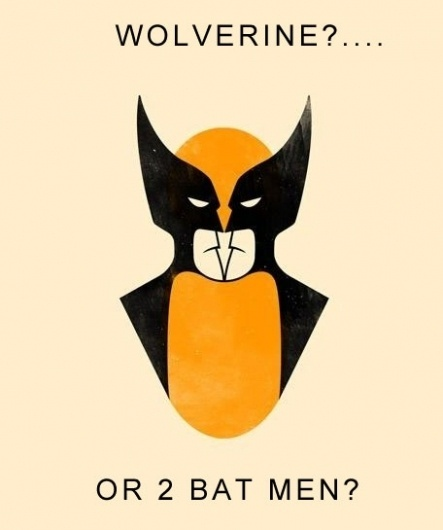 best examples of figure-ground - Google Images #figureground #wolverine #xmen #batman