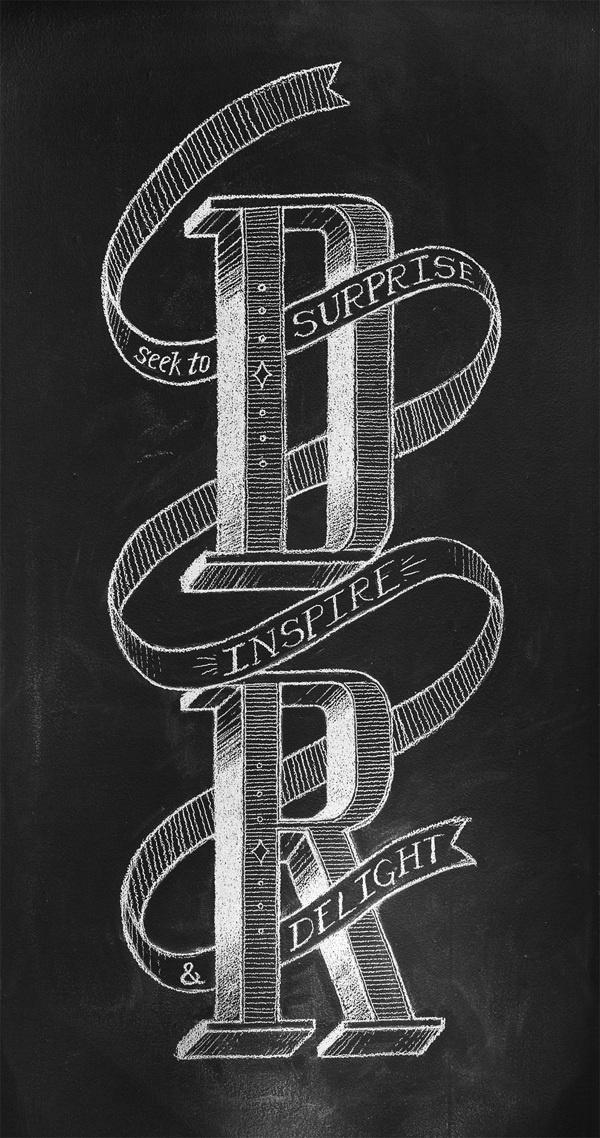 Daniel Richards Chalk Lettering on Behance #lettering