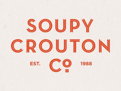 Soupy Crouton #soup #branding #food #restaurant #logo